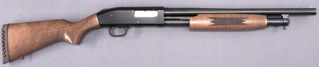 Mossberg 500A shotgun, 1980s production 'Persuader' model.