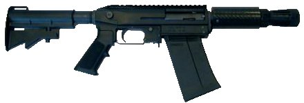 XM-26 LSS as a stand-alone shotgun weapon, with box magazine inserted.