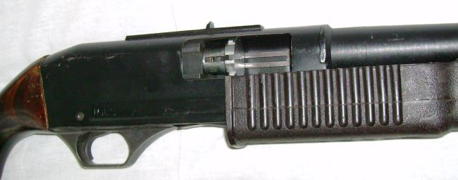 Ks 23 weapon right side close up with bolt partially retracted to