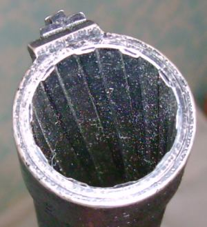 KS-23 rifled bore of 23mm caliber.