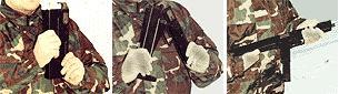 Пистолет-пулемет ПП-90 - перевод в боевое положение.