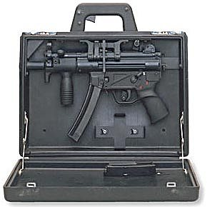 MP5K in the special carrying case.