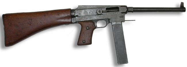 MAS-38 submachine gun, right side.