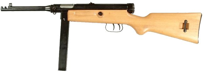 Beretta M1938/49 (Model 1949 or Model 4) submachine gun.