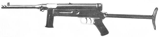 Beretta Model 2 Model 1938-1949 bir katlama stok versiyonu oldu.