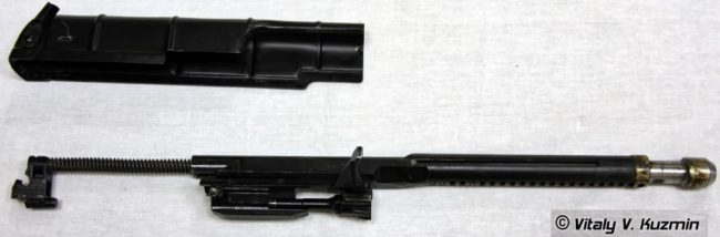 top cover and bolt group (with balanced system) of the AEK-971 assault rifle