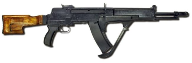 Nikonov AS experimental rifle with sliding magazine, 1986