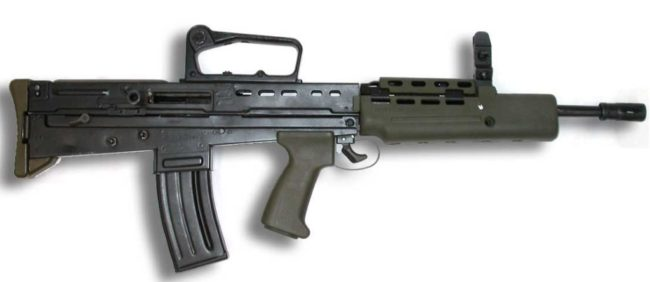 L85A1 rifle with iron sight