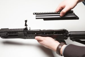 removing top cover from AK-12 rifle