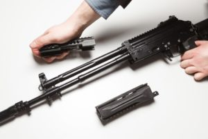 removing forend from AK-12 rifle