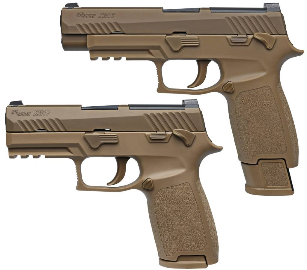 9mm M17 pistol and M18 compact pistol