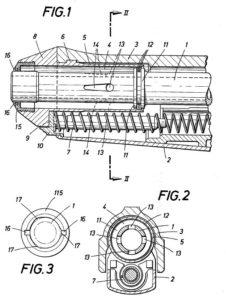 схема системы с газовым торможением затвора, примененная в пистолете Steyr GB