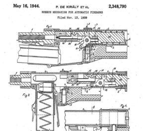 патент на систему с торможением затвора рычагом конструктора Пала Кирали
