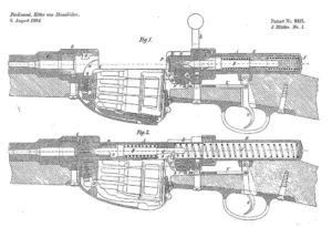 патент на самозарядную винтовку Маннлихера с полусвободным затвором