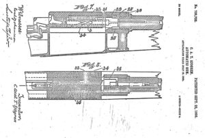 Sjogren patent for his inertia operated rifle