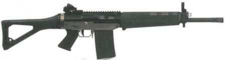 Military / LE select-fire SIG SG 751 LB SAPR rifle