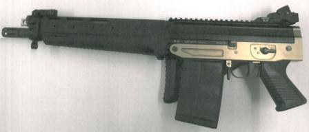 Military / LE select-fire SIG SG 751 SB SAPR rifle, with shoulder stock folded