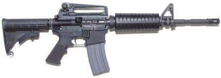 Colt M4 carbine, current issue model with removable carrying handle, right side