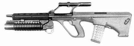 Steyr AUG with M203 40mm grenade launcher