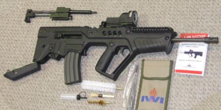 Tavor TAR-21 partially disassembled