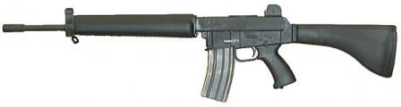 "The ""reincarnated"" AR-180B of recent manufacture. Semi-automatic onlyand with plastic lower receiver with integral pistol grip"