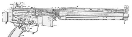 Schematic view of the AR-18 (from the original Armalite patent, issued in 1968)