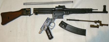 MP 43 assault rifle partially disassembled