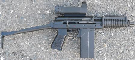 9A-91 compact assault rifle (current production model) with red-dot sight