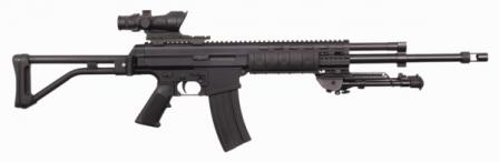 Robinson Armaments XCR rifle, caliber 6.8x43mm Remington SPC, with Trijicon ACOG telescope sight