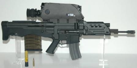 K11 dual-caliber air-burst weapon, right side