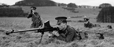 British troops with .55 (13.9mm) Boys anti-tank rifle.