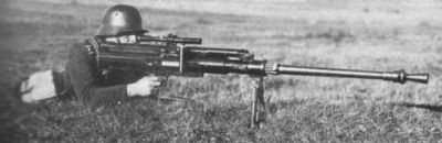 Soldier with 20mm Solothurn S18-100 antitank rifle.