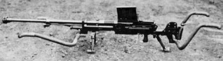 Type 97 anti-tank rifle, with magazine and carrying handles attached.