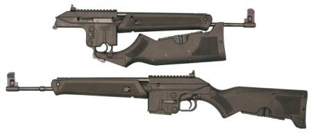 Kel-tecSU-16B rifle in various configurations.