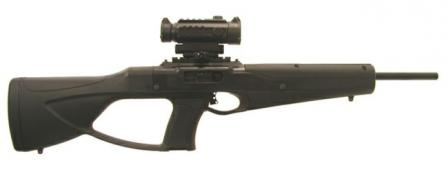 Hi-Point model 995 carbine with ATI stock, which is designed to mimic BerettaCX4 carbine.