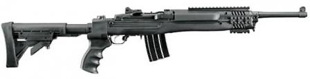 Ruger Mini-14 Tactical rifle with side-folding telescoping buttstock and factory-installed rail interface.