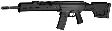 MAGPUL Masada / Bushmaster ACR - Adaptive Combat Rifle in SPR configuration, with 18.5in barrel and fixed adjustable 'sniper' stock.