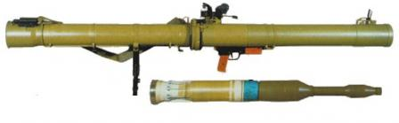 RPG-29 antitank grenade launcher with PG-29V grenade, ready for loading.