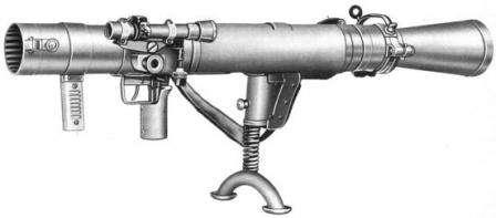 Carl-Gustaf M2 (Swedish designation m/48) antitank recoilless rifle.