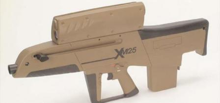 Another XM25 grenade launcher mock-up.