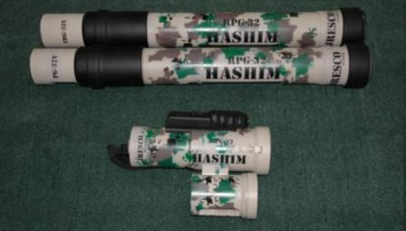 RPG-32 'Hashim' launcherand two preloaded containers wit rockets.