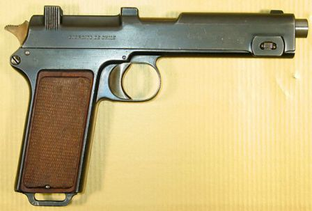 Steyr Hahn M1911 self-loading pistol made for Chilean contract.