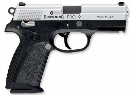Same pistol in civilian guise is marketed as the Browning PRO-9.