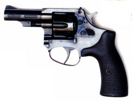 New Chinese police revolver. Note the manual safety lever located above the cylinder release latch.