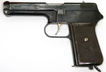 CZ Vz.38 pistol, left side