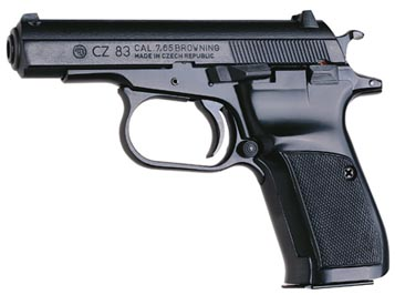 CZ 83 - commercial version of the CZ 82 in 7.65x17mm (.32 ACP)