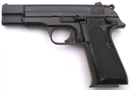 MAB PA-15 pistol, left side