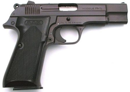 MAB PA-15 pistol, right side