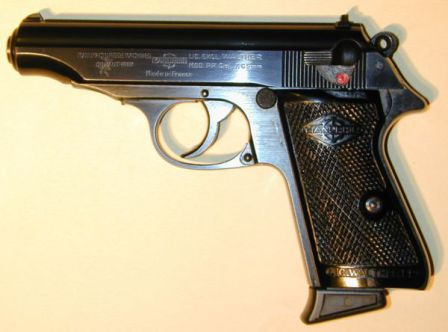 Post-war Walther PP pistol made under license in France by Manurhin.