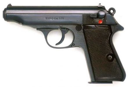 Post-war Walther PP pistol made in East Germany.